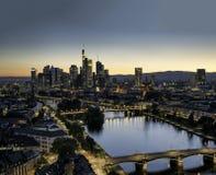 Горизонт Франкфурта, Германии Стоковые Фото