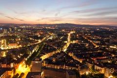 Горизонт Франкфурта, Германия Стоковая Фотография RF