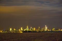 Горизонт Франкфурта-на-Майне Стоковая Фотография RF