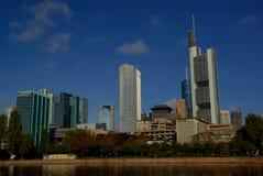 Горизонт Франкфурт небоскреба Стоковые Изображения RF