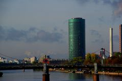 Горизонт Франкфурт небоскреба Стоковое Фото