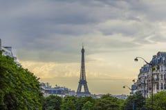 Горизонт Франция Парижа Эйфелева башни Стоковые Изображения