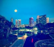 Горизонт центрального района Куалаа-Лумпур Стоковое Фото