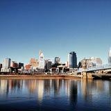 Горизонт Цинциннати Огайо на Реке Огайо Стоковое Фото