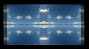 горизонт через окно Стоковое Изображение