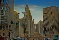 Горизонт Чикаго на день стоковые фото