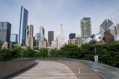Горизонт Чикаго Стоковые Фотографии RF