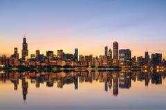 Горизонт Чикаго Стоковое Фото