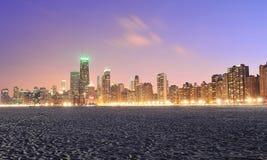 Горизонт Чiкаго и северный пляж бульвара Стоковая Фотография