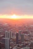 Горизонт Чiкаго от башни hancock стоковые изображения rf