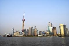 Горизонт Шанхай стоковое фото rf