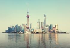 Горизонт Шанхая, Китай стоковое изображение