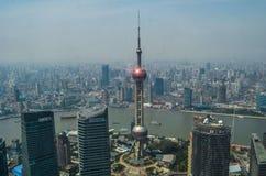 Горизонт Шанхая Стоковое Изображение