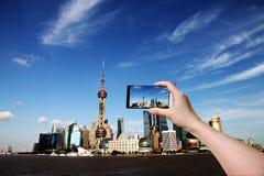 Горизонт Шанхая. Стоковая Фотография RF