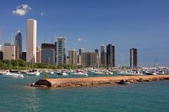 горизонт ясного дня s chicago Стоковые Изображения