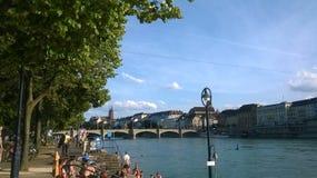 Горизонт Basle, Швейцарии Стоковая Фотография RF