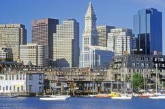 горизонт boston massachusetts Стоковое Фото