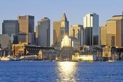 горизонт boston massachusetts Стоковая Фотография RF
