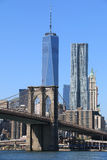 горизонт brooklyn manhattan моста Стоковое Фото