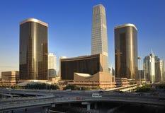 горизонт cbd здания Пекин Стоковое фото RF