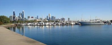 горизонт chicago панорамный Стоковые Изображения RF