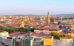 Горизонт Cluj Napoka, Румыния Стоковое фото RF