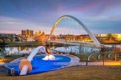 Горизонт Des Moines Айовы в США стоковое фото rf