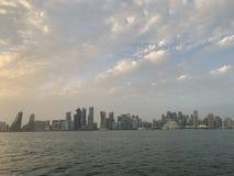 горизонт doha Катара стоковые изображения rf