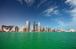 горизонт doha стоковые фотографии rf