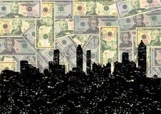 горизонт grunge долларов atlanta иллюстрация вектора