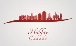 Горизонт Halifax V2 в красном цвете Стоковые Изображения RF