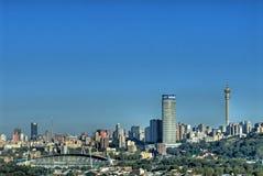 горизонт johannesburg города стоковые изображения rf