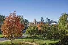 Горизонт Kansas City Миссури стоковая фотография rf