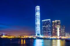 Горизонт Kowloon в Гонконге стоковое фото rf