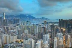 Горизонт Kowloon Гонконга от Eagle& x27; гнездо s Стоковые Изображения