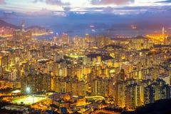 Горизонт Kowloon Гонконга Стоковая Фотография