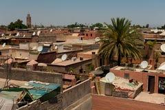Горизонт Marrakech стоковые изображения rf