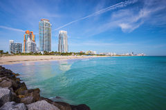 Горизонт Miami Beach стоковая фотография rf