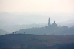 горизонт monferrato Италии стоковые изображения
