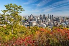 горизонт montreal осени Стоковые Изображения RF