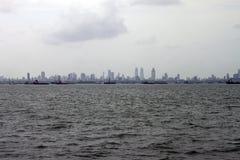 горизонт mumbai megalopolis стоковое фото