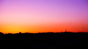 Горизонт n захода солнца Стоковое Изображение RF