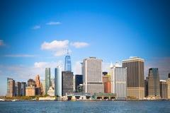 Горизонт NYC городской Стоковые Фото