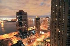 Горизонт NYC - Ист-Сайд Стоковые Фотографии RF