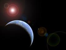 горизонт otherworldly Стоковая Фотография RF