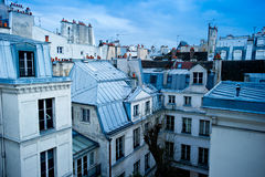 горизонт paris района стоковые изображения