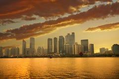 Горизонт Qingdao стоковое изображение rf