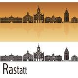 Горизонт Rastatt в оранжевой предпосылке Стоковые Фотографии RF