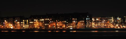 горизонт rotterdam ночи Стоковое Изображение RF