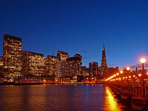 горизонт san ночи francisco Стоковая Фотография RF